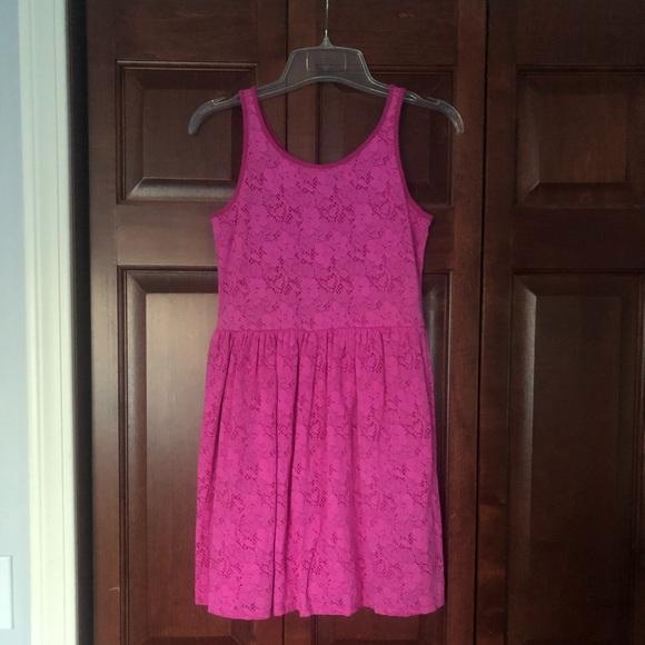 Gap girls size XL (14) pink floral lace dress